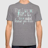 When I Saw You (Mint) Mens Fitted Tee Tri-Grey SMALL
