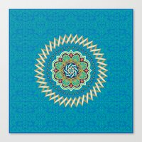 Swirl Tile Pattern Canvas Print