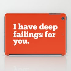 Deep Failings For You iPad Case
