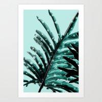 Leaves 2 Geometry Art Print