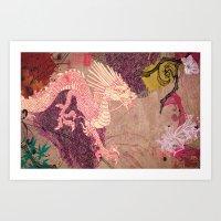 The Red Dragon Art Print