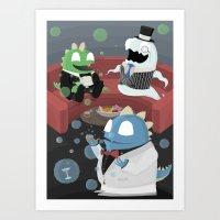 Bubble Bobble Cocktail P… Art Print