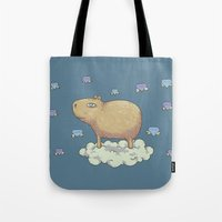 Capy In The Sky With Dia… Tote Bag
