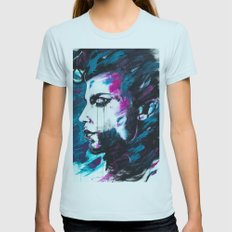 Portrait of Prince Womens Fitted Tee Light Blue SMALL