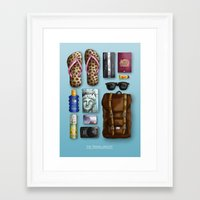 The Travelling Kit Framed Art Print