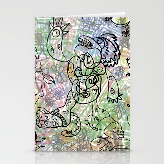Anymanimals+Whatlifethrowsatyou    Nonrandom-art1 Stationery Card
