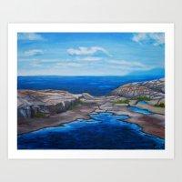 Tee Harbour  Art Print