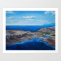 Tee Harbour  Art Print