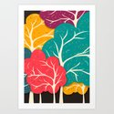 Happy Forest Art Print