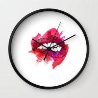 LIP BITE Wall Clock