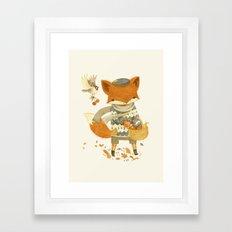 Fritz the Fruit-Foraging Fox Framed Art Print