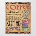 Kitties & Coffee Canvas Print