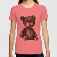 Teddy  Womens Fitted Tee Pomegranate SMALL