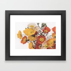 Perfect pastel poppies Framed Art Print