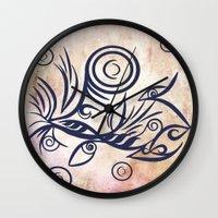 Tribal Tattoo Traveler Wall Clock