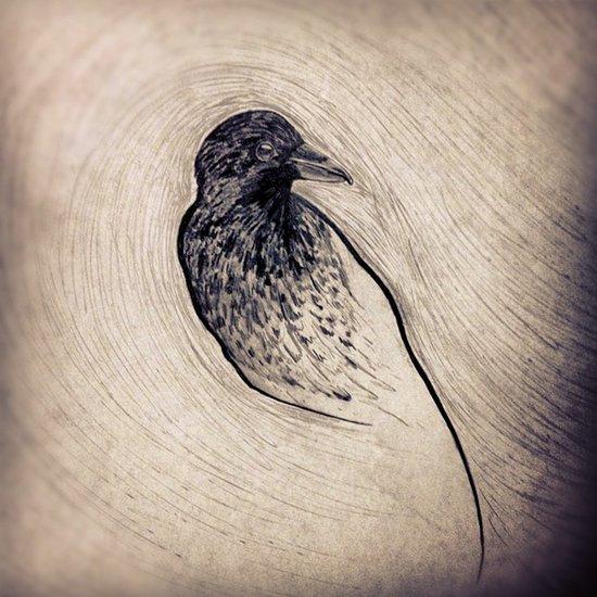 Bird Fingerprint Art Print