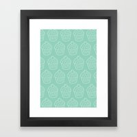 Cupcake Pattern Framed Art Print