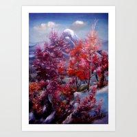 Bir Ormanın Düşsel Renkleri Art Print