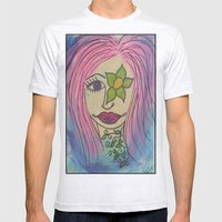 Flower Girl Mens Fitted Tee Ash Grey SMALL