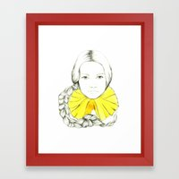 Frill Neck Lady Framed Art Print