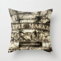 The Apple Market Covent … Throw Pillow