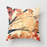 Maple Run Throw Pillow