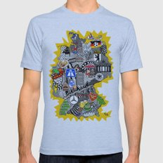 Germany Doodle Mens Fitted Tee Athletic Blue SMALL
