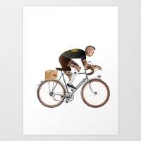 Bike Driver Art Print