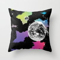 The Neon Spectrum And Co… Throw Pillow