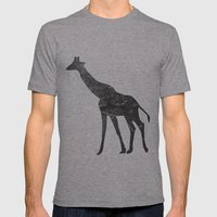 Giraffe (The Living Things Series) Mens Fitted Tee Athletic Grey SMALL
