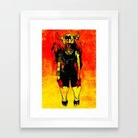 Spanish Bull Framed Art Print