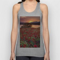 Sea Of Poppies At The La… Unisex Tank Top