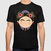 Frida Mens Fitted Tee Tri-Black SMALL