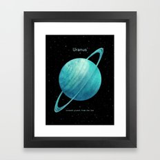 Uranus Framed Art Print