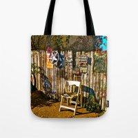 Sidewalk Seat Tote Bag