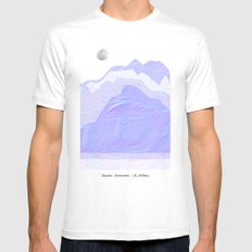 Mount Everest SMALL White Mens Fitted Tee