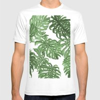 Palms Mens Fitted Tee White SMALL
