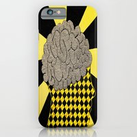 brain iPhone & iPod Cases featuring Brain by Art By Carob