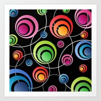 Circles In Circles. Art Print