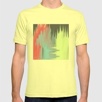 Smudge Mens Fitted Tee Lemon SMALL