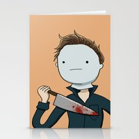 Adventure Time with Michael Myers Stationery Cards