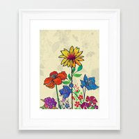 Flower Tales 5 Framed Art Print