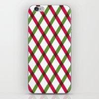 Holiday Ribbon Pattern iPhone & iPod Skin