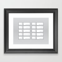 Ten Commands Framed Art Print