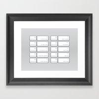 Ten Commands Framed Art Print