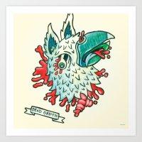 Dead Myth Throw Pillow: … Art Print