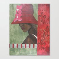 Canvas Print featuring Fashionista by James Davis