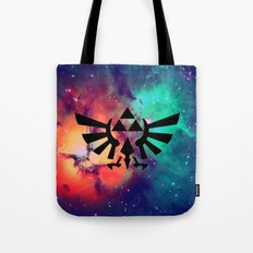 The Legend of Zelda Triforce Multicolored Stars Tote Bag