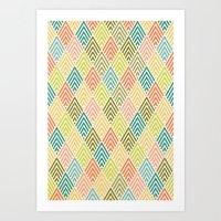 Citronique Series: Forêt Sorbet Art Print
