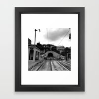 Duboce Tunnel Again Framed Art Print